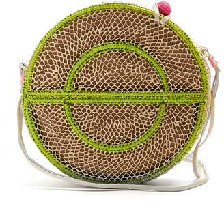 SOPHIE ANDERSON Nilsa circle toquilla-straw cross-body bag
