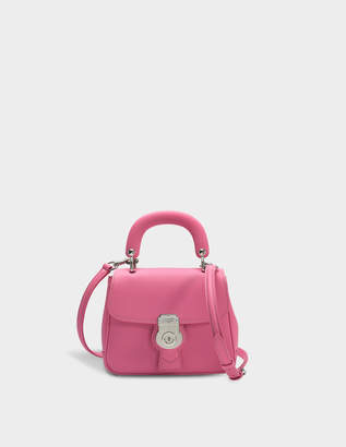 Burberry Small DK88 Top Handle Bag in Pink Embossed Calfskin