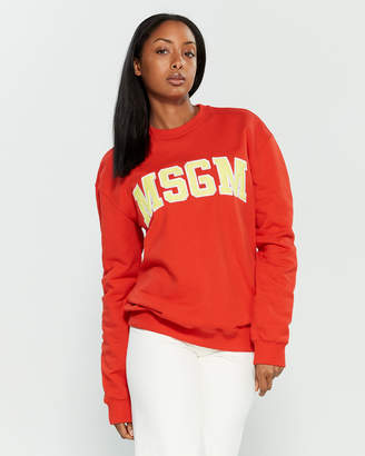 MSGM Embroidered Logo Sweatshirt