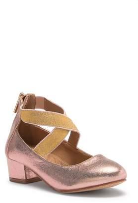 Tahari Glitter Strapped Metallic Dress Heel (Little Kid)