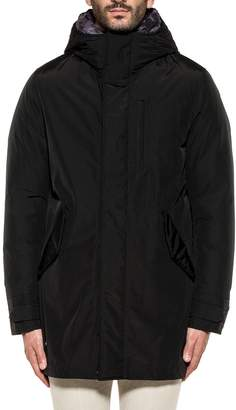 Woolrich Black/military Double Hooded Jacket