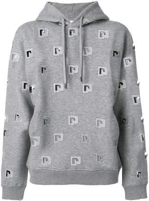 Paco Rabanne cut out logo hoodie