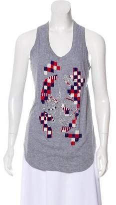 Alexander McQueen Sleeveless Embroidered T-Shirt