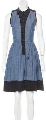 Proenza Schouler Chambray A-Line Dress
