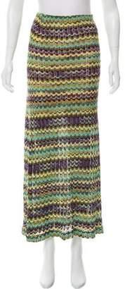 Missoni Linen-Blend Maxi Skirt