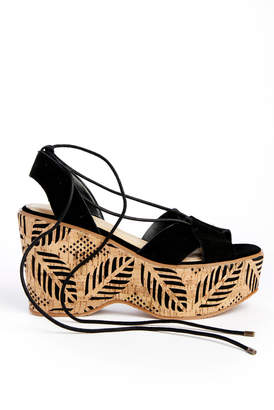 Sbicca Staycation Printed Cork Wedge