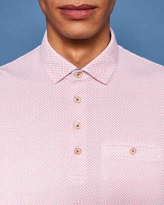 Ted Baker LEMSHER Mini geo print cotton polo shirt