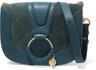 See by Chloe Hana Small Suede And Leather Shoulder Bag - Blue