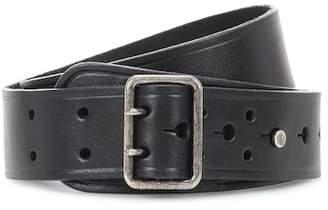 Saint Laurent Leather press-stud belt