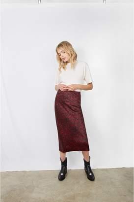 Anine Bing Bar Silk Skirt - Red Leo