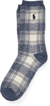 Ralph Lauren Ombre Plaid Trouser Sock
