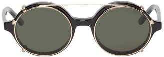 Han Kjobenhavn Black and Gold Doc Clip-On Sunglasses