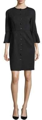 Elie Tahari Oceana Bell-Sleeve Dress