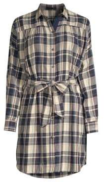 ATM Anthony Thomas Melillo Plaid Tie-Waist Shirt Dress