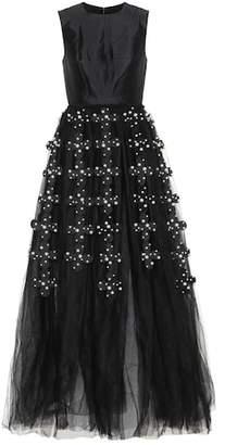 Huishan Zhang Sleeveless wool and silk dress