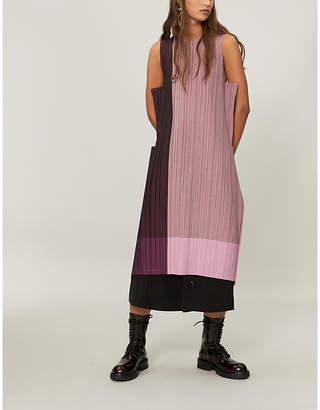Issey Miyake Stair pleated midi dress