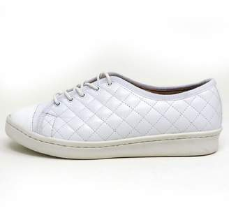 Paul Mayer White Quilted Sneakers