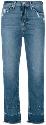 Hudson distressed finish jeans