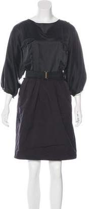 Lanvin Silk Knee-Length Dress w/ Tags