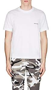 Balenciaga Men's Logo Cotton T-Shirt - White