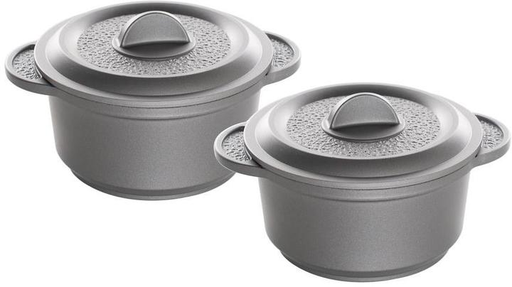 Nordicware Pro Cast Traditions Enameled Cast Mini Cocotte Pan with Cover (2-Set) Slate