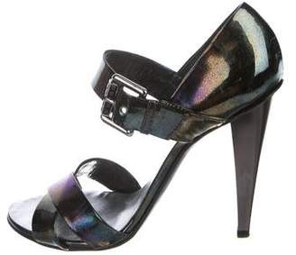 Giuseppe Zanotti Holographic Leather Sandals