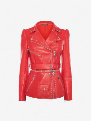 Alexander McQueen Studded Leather Biker Jacket
