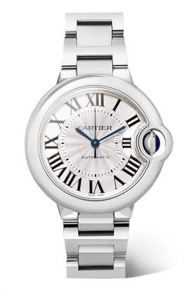 Cartier Ballon Bleu De 33mm Stainless Steel Watch - Silver
