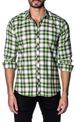 Jared Lang Long Sleeve Check Slim Fit Shirt