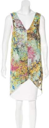 Ted Baker Abstract Print Sleeveless Top