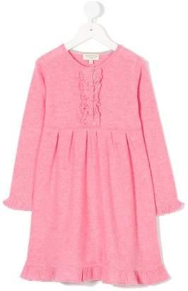 Cashmirino Cashmere ruffled knit dress