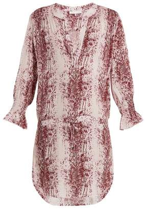 Heidi Klein - Monaco Snakeskin Print Tunic Dress - Womens - Burgundy White