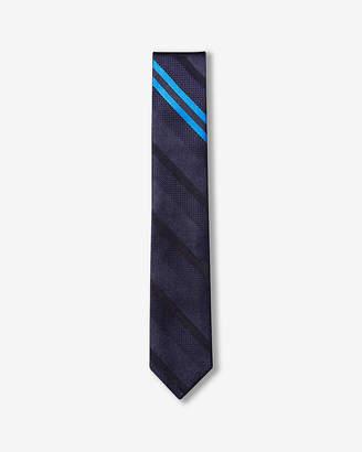 Express Slim Diagonal Stripe Reversible Silk Tie