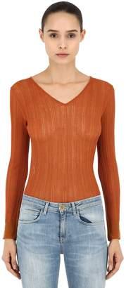 L'Autre Chose V Neck Viscose Sweater