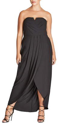 City Chic Romantic Drape Maxi Dress
