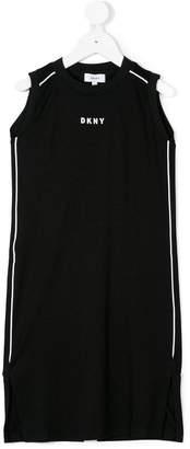 DKNY logo printed dress