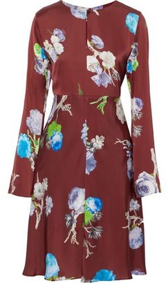 Acne Studios Dahari Floral-Print Satin Dress