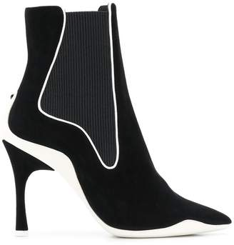 Rene Caovilla ribbed side ankle boots