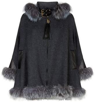 Holland Cooper Fur Trimmed Cape