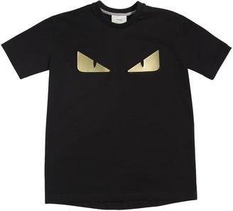 Fendi Monster Eyes Cotton Jersey T-Shirt