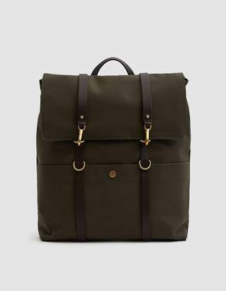 Mismo M/S Backpack in Army/Dark Brown