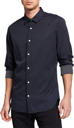 Vince Men's Mini Foulard Print Long-Sleeve Sport Shirt