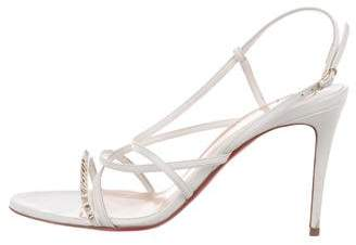 Christian Louboutin Gwinispike 85 Leather Sandals