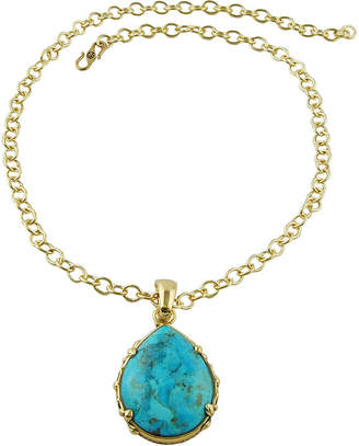 Artsmith BY BARSE Art Smith by BARSE Genuine Turquoise Teardrop Pendant Necklace