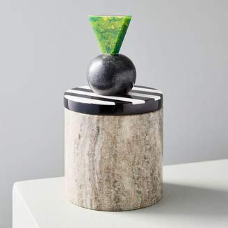 west elm Geo Mixed Marble Boxes