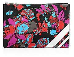 Givenchy Women's Iconic Prints Fire Flower Zip Pouch