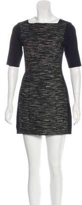 Tibi Sheath Knit Panel Dress