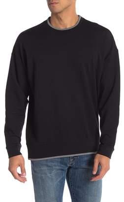 Calvin Klein Boxy Piped Crew Neck Sweater