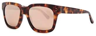 Linda Farrow Luxe 71 Tortoiseshell Square-framed Sunglasses