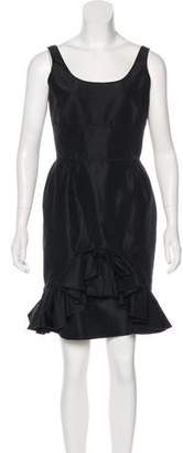Oscar de la Renta Sleeveless Mini Dress